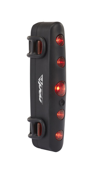 Red Cycling Products Power LED Red Light schwarz